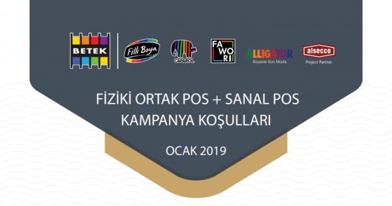 OCAK 2019 ORTAK POS/SANAL POS KAMPANYALARI